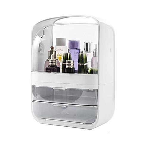 Organizador porta maquiagem removível com gavetas Branco