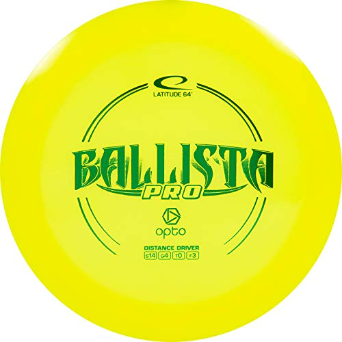 D·D DYNAMIC DISCS Latitude 64 Opto Ballista Pro Disc Golf Driver | Maximum Distance Frisbee Golf Driver | 170g Plus | Stamp Color Will Vary (Yellow)
