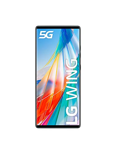 "LG Wing - Smartphone con Dos Pantallas de 6.8""/3.9"" (5G, Octa-Core hasta 2.4GHz Qualcomm SD765G, 128GB/8GB, 3x cámaras Ultra-High Definition, batería 4.000mAh) Gris [Versión ES/PT]"