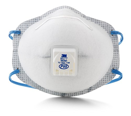 3M Particulate Respirator 8577, P95, with Nuisance Level Organic Vapor Relief (Pack of 10)