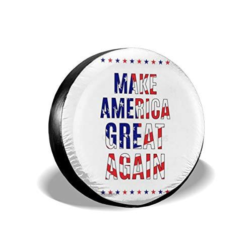 Sootot Make-America-Great-Again Repuesto de Cubierta de llanta Protectores de llanta se Adapta a diámetro de llanta 17 Pulgadas