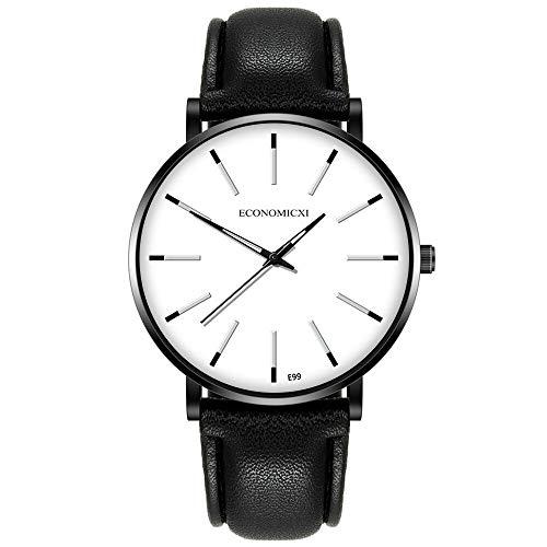 Cuitan Hombres Mujeres Moda Fecha de Acero Inoxidable de Acero Inoxidable Sport Reloj de Pulsera de Cuarzo de Lujo Reloj de Pulsera de Lujo Moda Moda Chronograp(Blanco)
