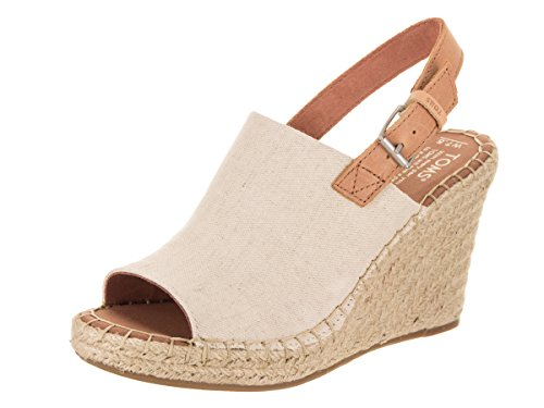TOMS Natural Oxford Women's Monica Wedges (Size: 7.5)