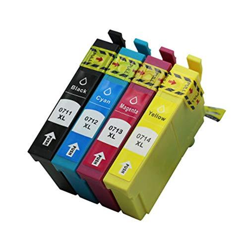T0711 T0712 T0713 T0714 Cartuchos de tinta, reemplazo para Epson Stylus SX200 SX210 SX215 SX218 SX400 SX415 SX515W DX8400 DX4000 DX8450 DX4400 D92 Impresoras
