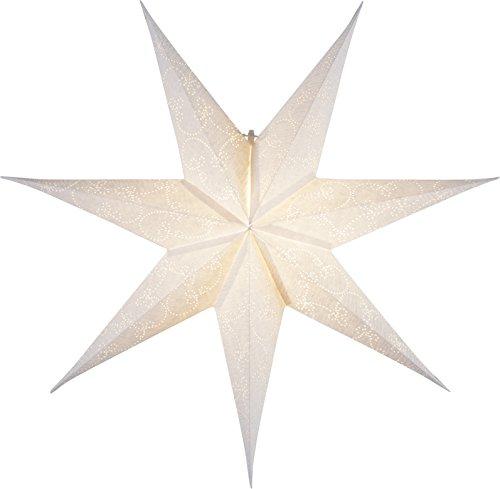 "Star 501-17, Papierstern""Decorus"", 7 zackig, Papier, Weiß, 1.5 x 6.3 x 6.3 cm"