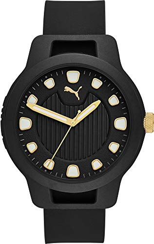 Puma Reset V1 - digitaal herenhorloge met zwarte siliconen band - P5033