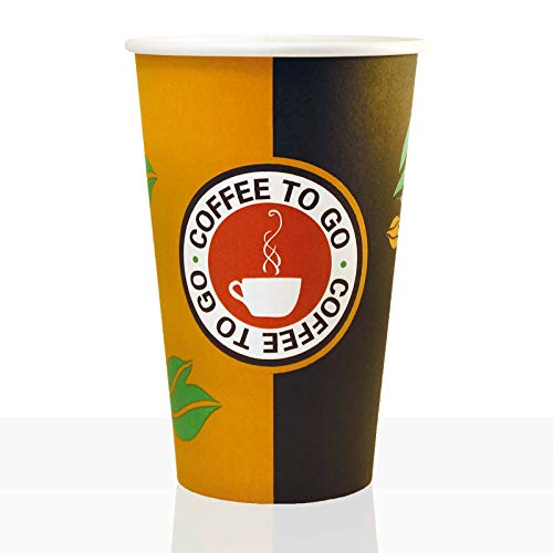 Coffee to go Becher aus Hartpapier 0,4l, 100Stk, Pappbecher, Kaffeebecher to go