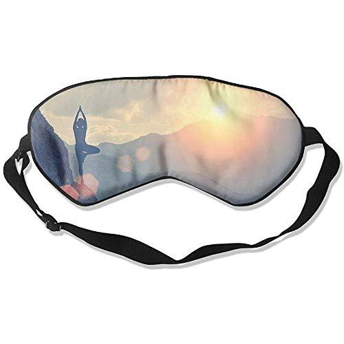 Slaapmasker, yoga, zonneschijn, zachte oogband, verstelbare hoofdband, eyeshade, travel eyepatch