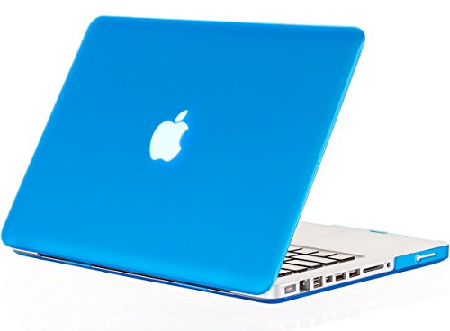 mCoque Matte Hard case for MacBook Pro 13' (Model A1278 with DVD Player) - Aqua (with a Free European Version Transparent Keyboard Skin) NOT Compatible with MacBook Pro 13' Retina Display