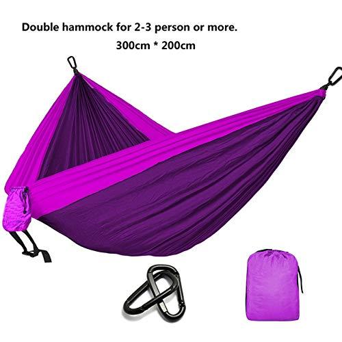 XIANGEN Hammock Double Hammock-Backyard, Porch, Outdoor and Indoor Double Bed-Soft Cotton Fabric Camping Parachute Hammock Garden