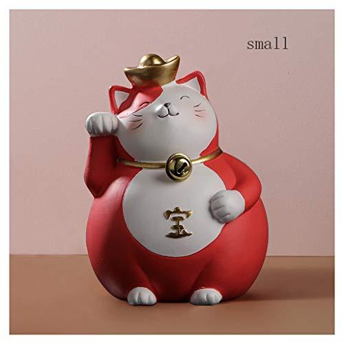 Ornamento de Escritorio La apertura de accesorios Gato afortunado gato de la fortuna de la decoración de la sala de TV Ebanisteria El nuevo hogar de los regalos de regalos del nuevo almacén artesanías