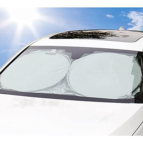 BAWAQAF Apto para Mazda Serie 3 2003 – 2019, parasol para parabrisas de coche, disminuye la temperatura en el coche