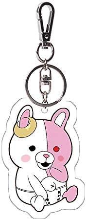 Davrcte Danganronpa NanamiChiaki Key Chains Acrylic Keychain Keyring Cute Key Buckle Anime Key Pendant Acrylic Key Charms