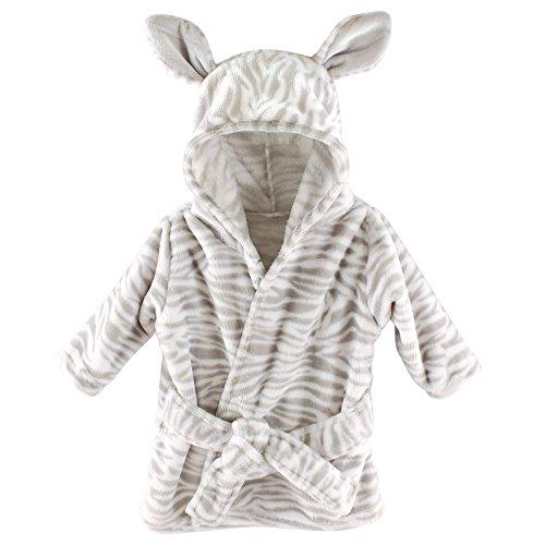Hudson Baby Animal Plush Bathrobe, Cebra, 0-9 meses