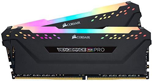 Corsair Vengeance RGB PRO kit memorie da 16 GB (2 x 8 GB) DDR4 3600 (PC4-28800) C20 ottimizzate per AMD Ryzen, Nero