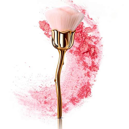 AndrewHome Brocha para rubor de rosas, brocha de polvo prensado suelta,...
