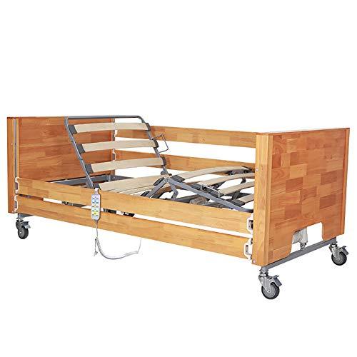 FC-Bed Elektrisches Faltbares Homecare-Bett, Premium-Krankenhausbett Mit Halblangen Schienen Und 360-Grad-Cardan Caster