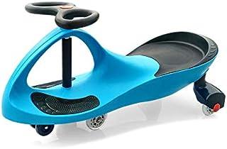 Arkmiido Children's Twisting Car Swing Car Ride On Magic Swing Wiggle Race Car Wiggle for Endless Fun for kids Blue