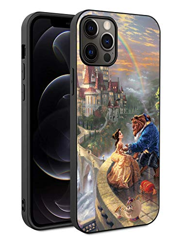 Phone Case Compatible with iPhone 12 iPhone 12 Pro TPU Soft Bumper Hard PC Slim Protective Back Cover 6.1-Inch (Beauty Belle Beast)