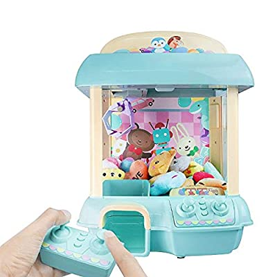 ForBEST Claw Machine Doll Machine with 6 Dolls, Removable Remote Control, USB Cable, Adjustable Sounds and Lights, Best Gift Toy for Kids by ForBEST