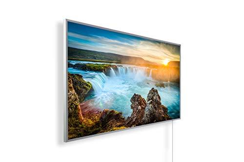 Könighaus Fern Infrarotheizung - Bildheizung in HD Qualität mit TÜV/GS - 200+ Bilder – mit Smart Home Thermostat, steuerbar mit APP für Handy- 1000 Watt (27. Wasserfall)