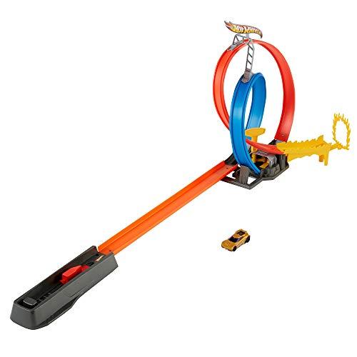 Hot Wheels Action Pista de energía Pista de coches de juguete, incluye 1 vehículo, juguete para niños de 5 años (Mattel GND92)