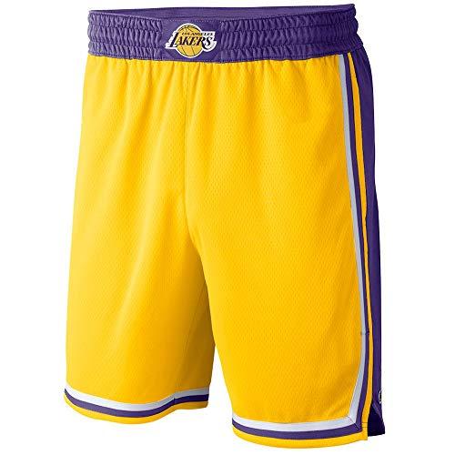 Gofei Pantaloncini da Basket da Uomo e Donna Lakers Maglia da Shorts da Basket Larghi Allenamento Sportivo Swingman Basketball Shorts