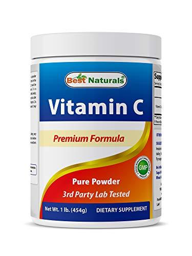 Best Naturals 100% Pure Vitamin C Powder 1 lb (454 Grams) Powder (Also Called Ascorbic Acid)
