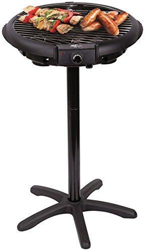 Melchioni DELUXE GRILL 8006012279436-Parrilla eléctrica (Soporte Integrado, Potencia de 1600 W, frecuencia de 50 Hz, Cubierta de Cristal) Color Negro