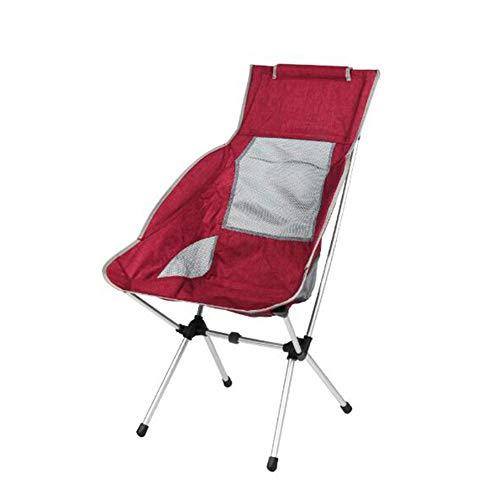 Zidao Tumbona, Camping Plegable de Aluminio Silla Silla de la Pesca Ultraligero con Bolsa de Transporte Silla Plegable de Camping para Excursionismo Senderismo,Rojo