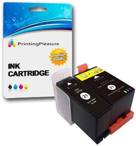 2 (FULL SET) Compatible Dell Series 21 Ink Cartridges for Dell P513W P713W V313 V313W V513W V515W V51 V715W - Black/Colour, High Capacity
