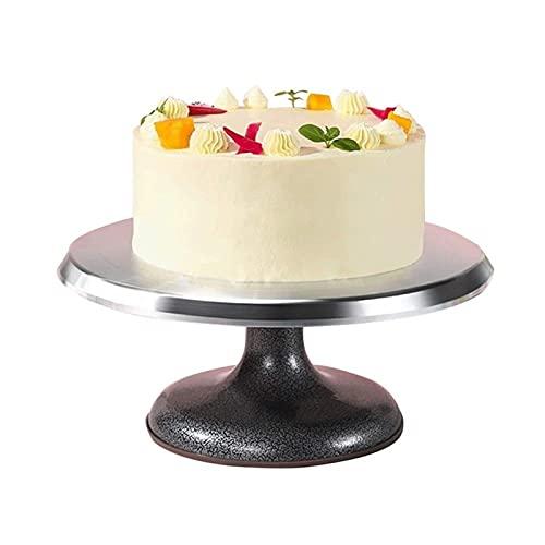 Z-Color Aleación de Aluminio de Soporte de Pastel, Tocadiscos de Torta giratoria de 10 Pulgadas para Hornear, decoración de Pasteles, Pasteles y Cupcakes (Size : 31 * 13.5cm)