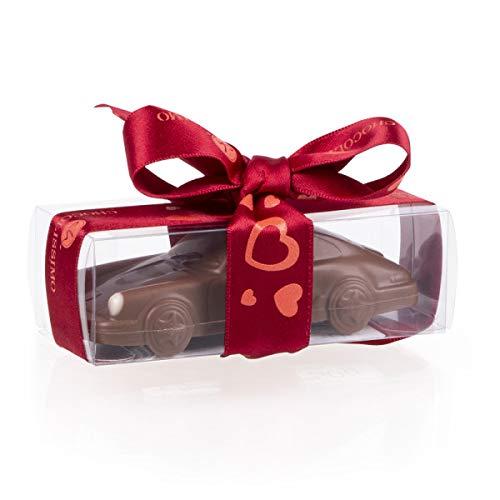 Porsche 911 Carrera - Mini - Valentinstag ? Schokoladenauto | Geburtstagsgeschenk | Auto aus Schokolade | Geschenk für Autoliebhaber | Kinder | Erwachsene | lustige Geschenkidee