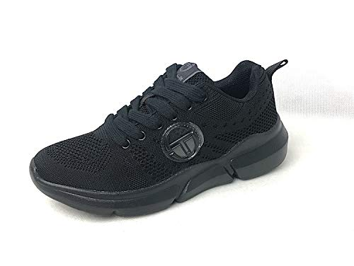 Sergio Tacchini Nero 45 Tennis Tela Running Corsa Passeggio Camminata Casual Sneakers