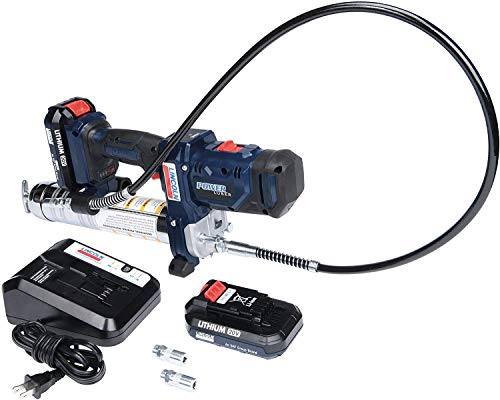 Lincoln 1888 PowerLuber 20 Volt Lithium Ion Professional High Pressure 2 Speed Cordless Grease Gun, 10,000 PSI, Two Battery Kit with Carrying Case and Charger