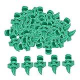 Gazechimp 50 Unids/Set Micro Planta Césped Agua Pulverizada Nebulización Boquilla Atomizadora Sistema de Riego por Aspersión - 180 Grados Verde