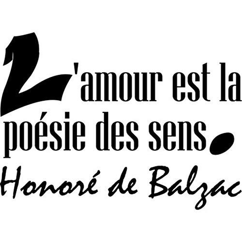 Wandaufkleber Kinderzimmer wandaufkleber 3d Französische Liebe ist die Poesie der Sinne Honoré de Balzac für das Schlafzimmer Liebe ist die Poesie der Sinne Honoré de Balzac für das Schlafzimmer