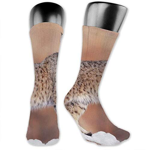 Nice-Guy Kanada Lynx bedruckte Crew Socken Bunte Unisex-Adult Socken