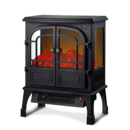 Open haard A vrijstaand voor elektrische oven, elektrische verwarming van binnen met houten haard, mini-verwarming, 43 decibel ultrastil - 900 W / 1800 W