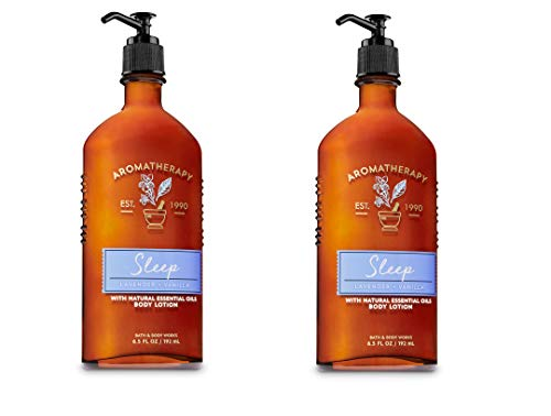 Bath and Body Works Body Lavender and Vanilla Body Lotion with Natural Essential Oils - 2 Pack