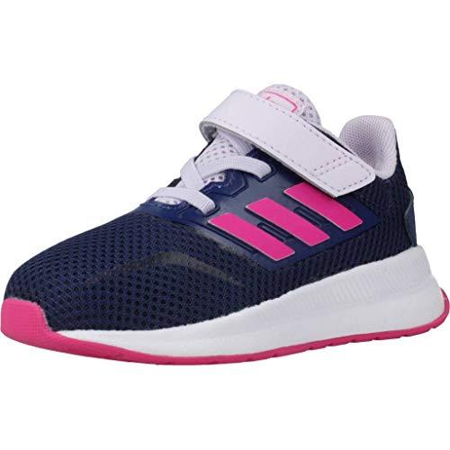 adidas Unisex Baby Runfalcon Indoor Laufschuh, TECIND/SHOPNK/PRPTNT, 23 EU