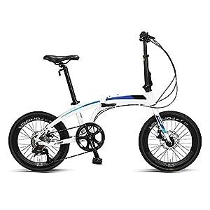 4153jF8+6sL. SS300 Bicicletta Pieghevole da 20 Pollici, Bicicletta Pieghevole Urbana in Acciaio al Carbonio, Bicicletta Pieghevole Portatile con Doppio Freno V, Bici Pieghevole Bici per Adulti
