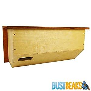 BusyBeaks Premium Nest Boxes - Traditional Nesting Box For Wild Garden Birds