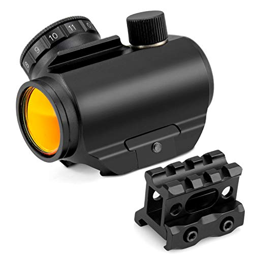 klola Red Dot Sight Micro Red Dot Gun Sights Rifle Scope with Include 1 inch Riser Mount for Picatinny Rail