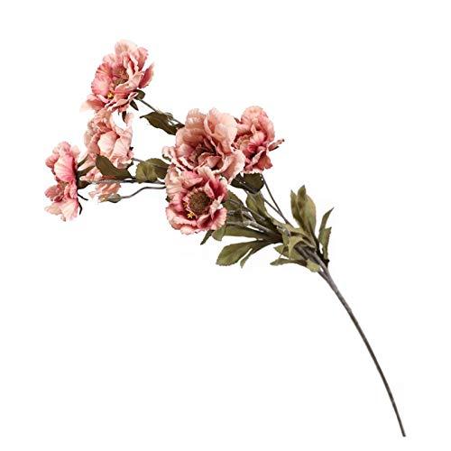 LLZY Trockene Blumen New Pfingstrose Seidenstoff Simulations-Blumen-Hochzeits-Dekoration DIY Garland Geschenk Dekoration Heim Handwerk Pflanze Künstliche flowerr (Farbe : Bean Paste)