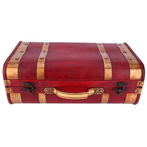 Astibym Caja de Almacenamiento de Gran Capacidad con asa, Caja de Almacenamiento de Joyas para Mujeres, niñas, decoración del hogar, Accesorios de película(1622-01-Red Phnom Penh-Small, Blue)