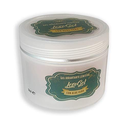 Lesogel gel con aloe vera per depilazione e ceretta 50 ml – Gel lenitivo doposole utile anche per arrossamenti e irritazioni superficiali