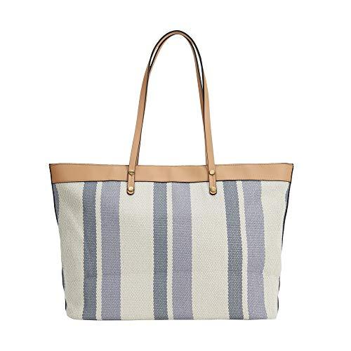 Parfois - Bolso Shopper De Rayas - Mujeres - Tallas M - Azul 1