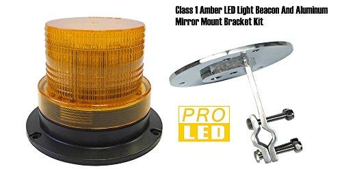 220ABRK1KIT Amber LED Warning Light Beacon, Mirror Mount -