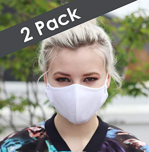 NIMBIM Pocketsy Mundschutz, Mundnasenschutz Maske mit antibakterielle Silberfasern, waschbare Damen Herren und Kindermaske, atmungsaktive Behelfsmaske, Spuckschutz Maske in schwarz und weiß